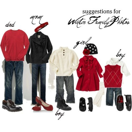 Winter photo attire idea- love the red coat for little ladies - Pin By Gina Parsley On Clothes Pinterest Family Photo Outfits