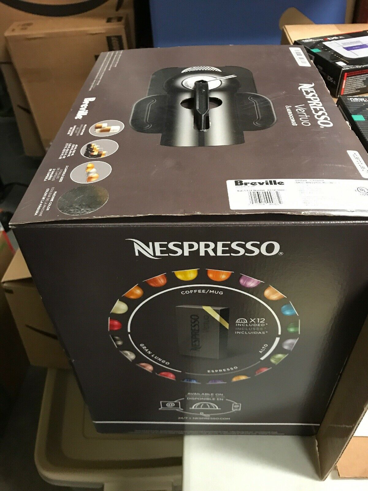 New Nespresso Vertuo Coffee Espresso Machine Bundle with