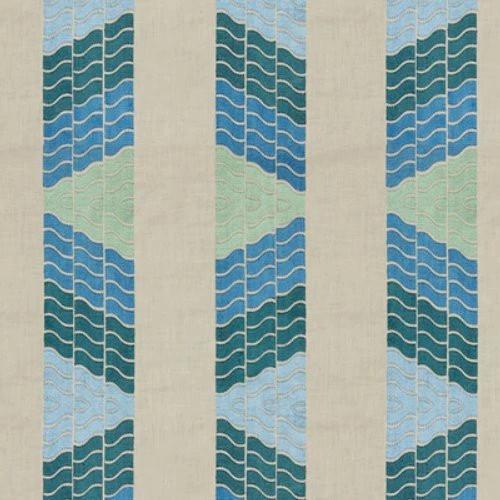 Brunschwig & Fils Clouds Aqua Fabric in 2020 Aqua fabric