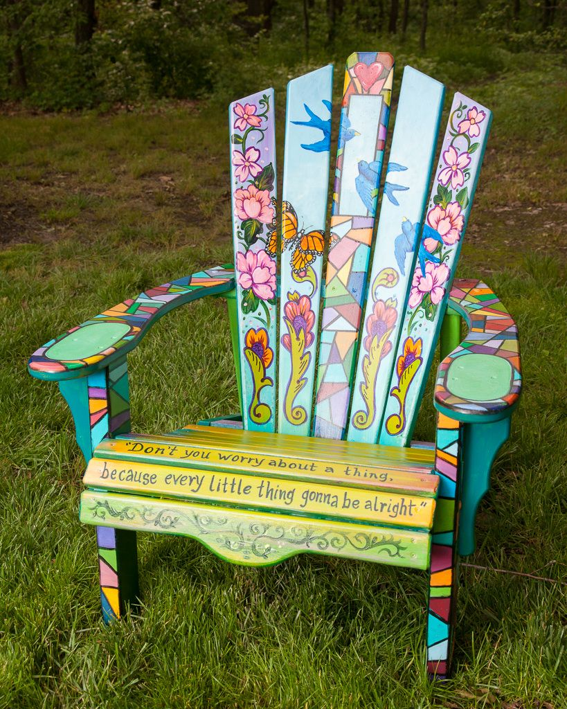 Love The Painting On This Chair Beautiful Painted Outdoor