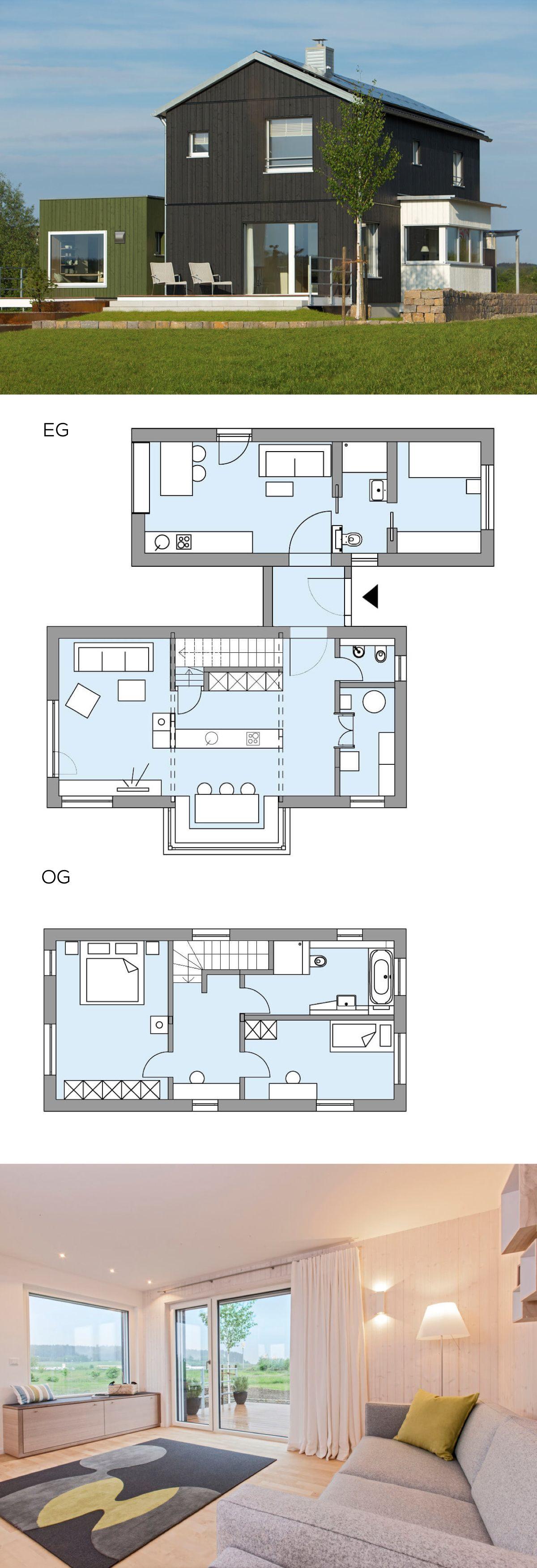 Modernes Einfamilienhaus Skandinavisch Mit Satteldach Architektur