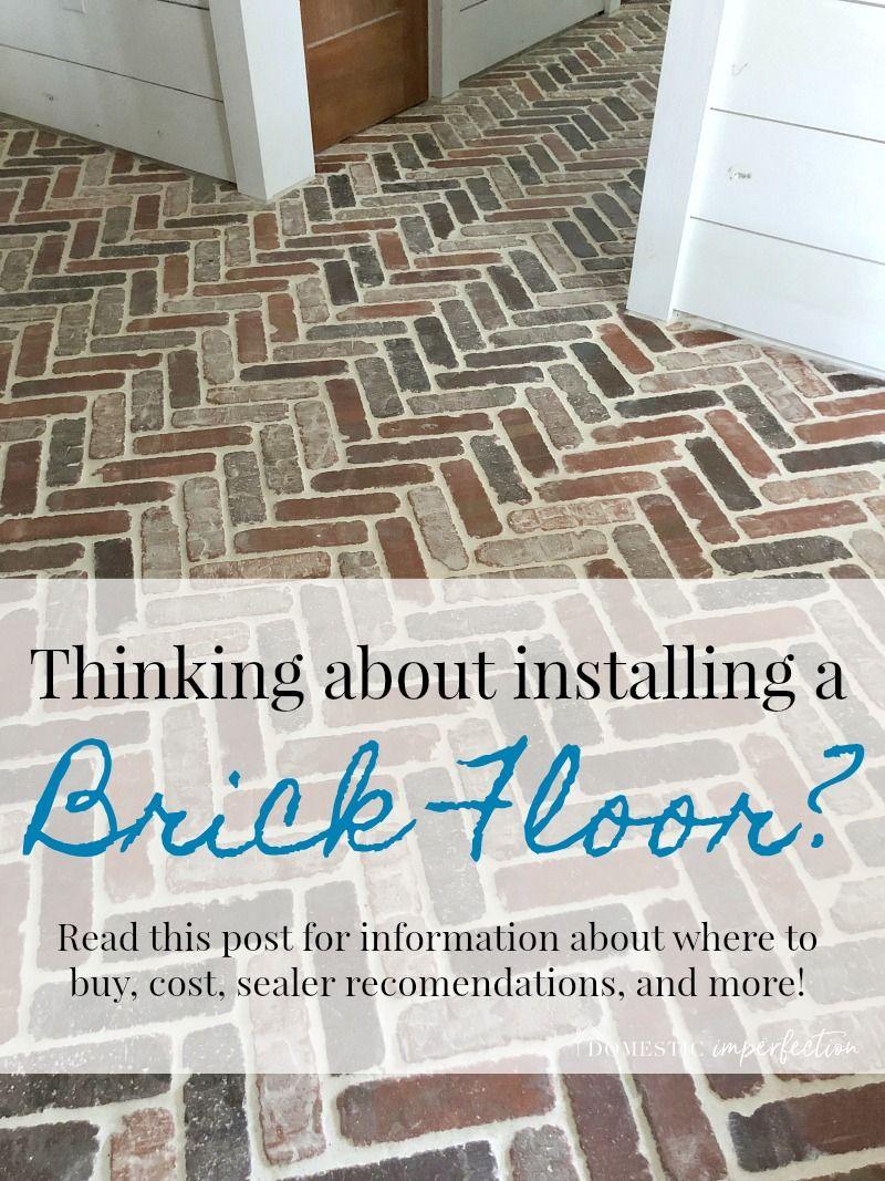 Herringbone Brick Paver Floor Brick Flooring Brick Pavers Diy Flooring