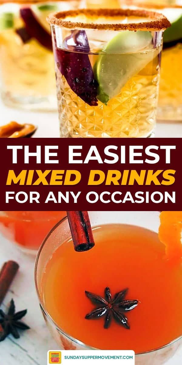 Simple Mixed Drinks #SundaySupper