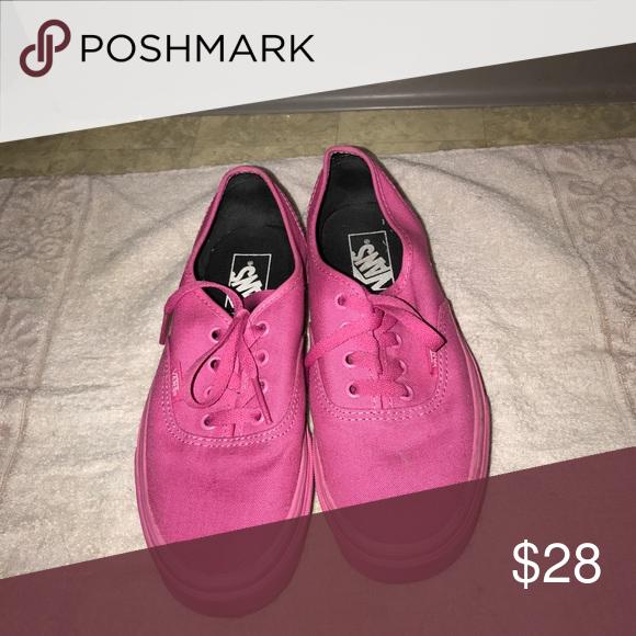 229eac4af3 Hot pink solid vans Hot pink solid vans women s size 6.5 only work 2 times! Vans  Shoes Sneakers