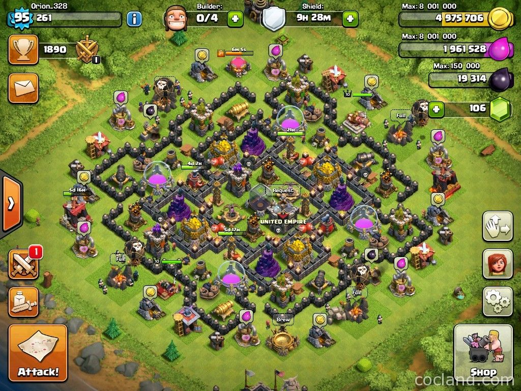 Gambar Base Th 9 Hybrid Info Base TH COC November 2015