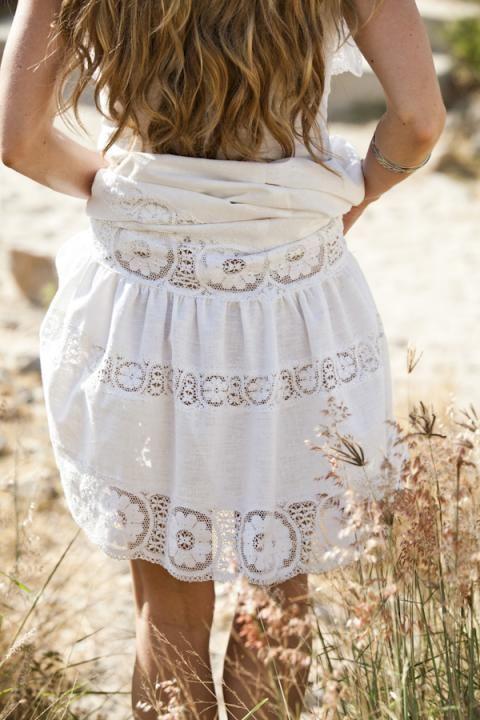 Vintage sundress via Ann-Marie + Taylor Knox / Wedding Style Inspiration / LANE