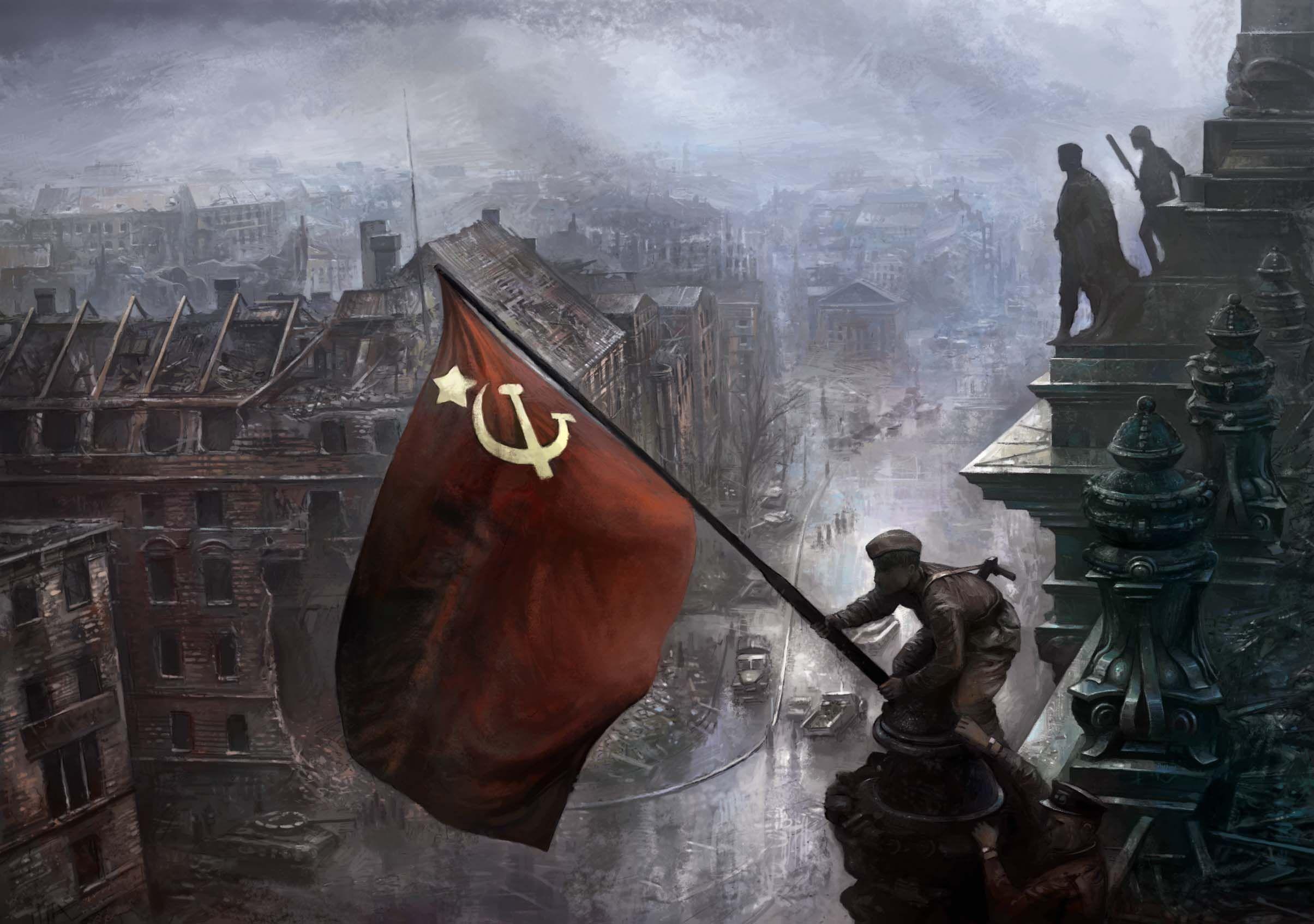 Soviets In Berlin Wallpaper