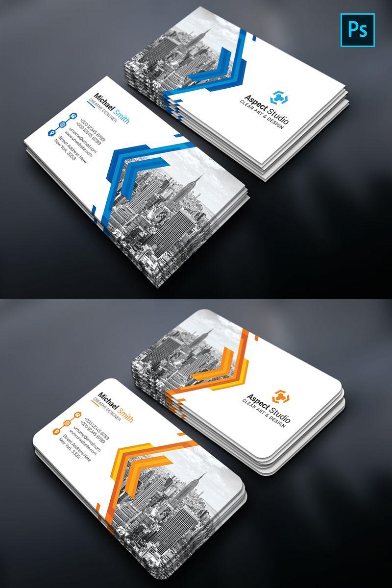 Aspect Studio Business Card Corporate Identity Template Busin Business Cards Corporate Identity Professional Business Card Design Professional Business Cards