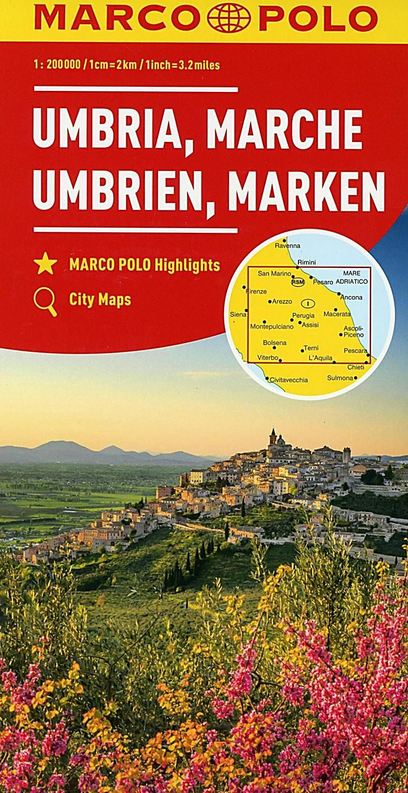 Marco Polo Karte Umbrien Marken 1 200 000 Umbria Marches