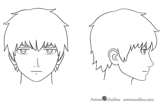 How To Draw Anime Male Head How To Draw Anime Male Head In 2020 Anime Head Anime Drawings Cartoon Girl Drawing