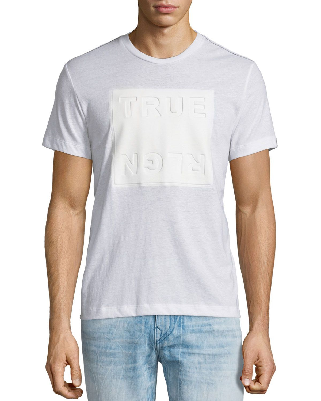9d8088d9 Debossed Logo-Graphic Short-Sleeve T-Shirt, White, Men's, Size: XXX ...