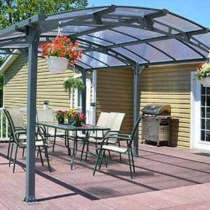 Amazon.com  Palram Arcadia 5000 Carport u0026 Patio Cover 16 x 12 x 8 & Amazon.com : Palram Arcadia 5000 Carport u0026 Patio Cover 16 x 12 x 8 ...