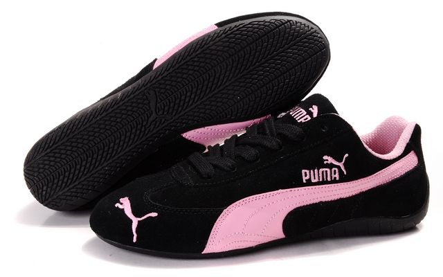 puma shoes pink and black. black · women\u0027s puma fast cat suede shoes pink and n