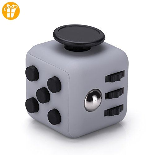 Fidget Cube Anti Stress Würfel in Grau Schwarz von VAPIAO - Fidget spinner (*Partner-Link)