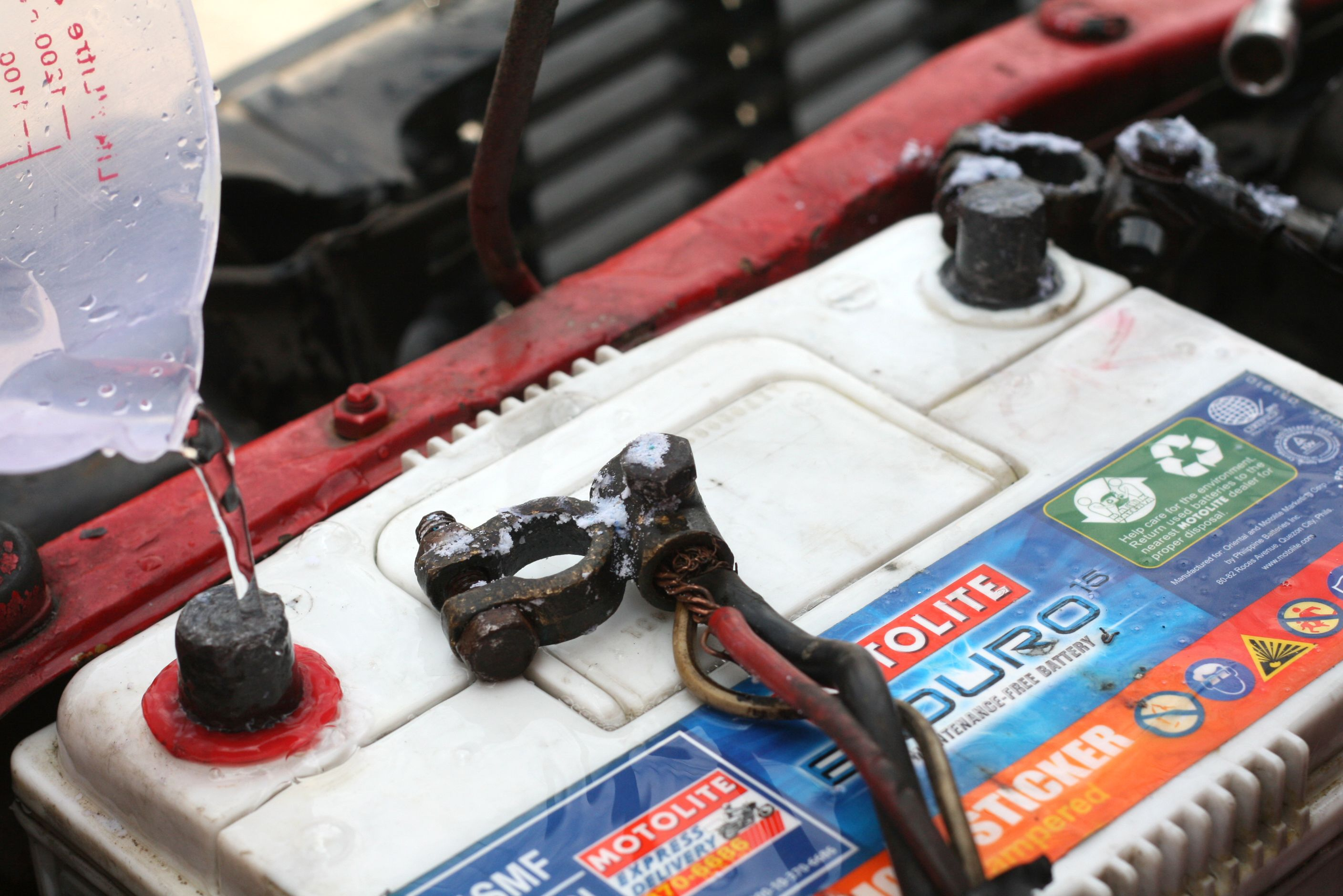 How To Clean Corroded Car Battery Terminals Battery Terminal Car Battery Battery