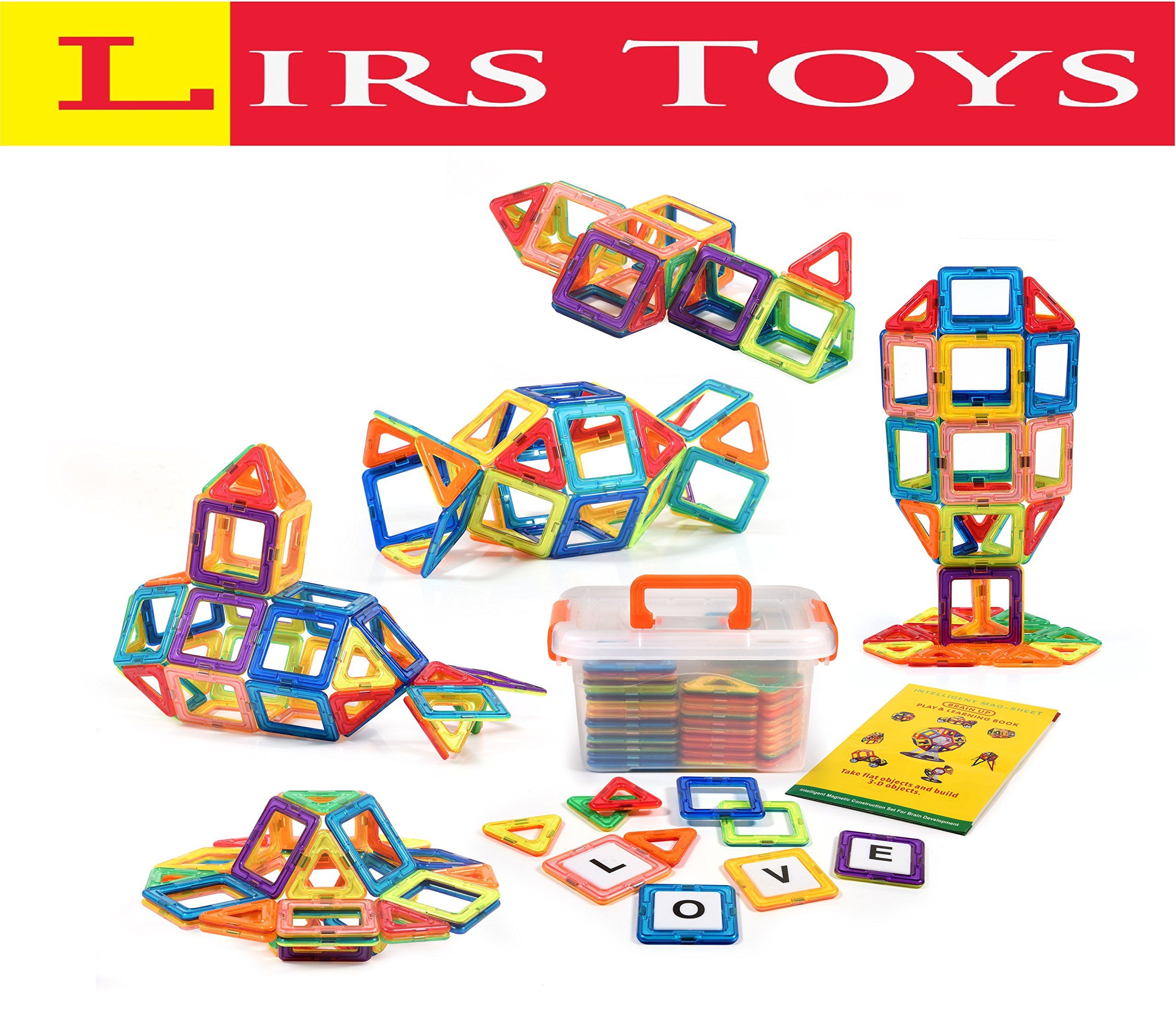Lirs TOYS 72 pcs Magnetic Blocks Magnetic Tiles Building Blocks