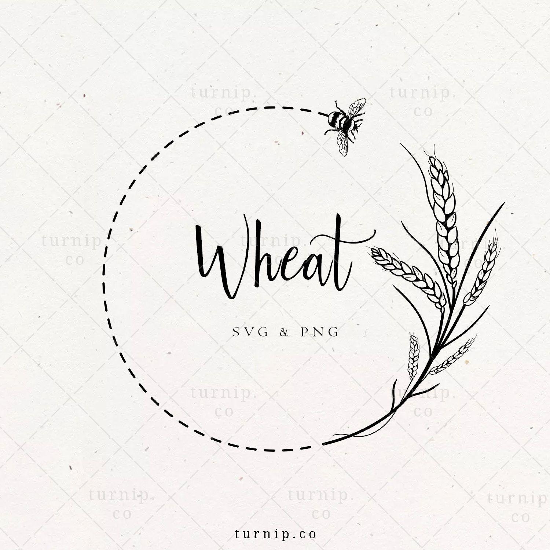 Wheat Wreath Svg Wheat Bee Border Png Clipart Farmhouse Etsy In 2021 Farmers Market Logo Clip Art Organic Logo Design