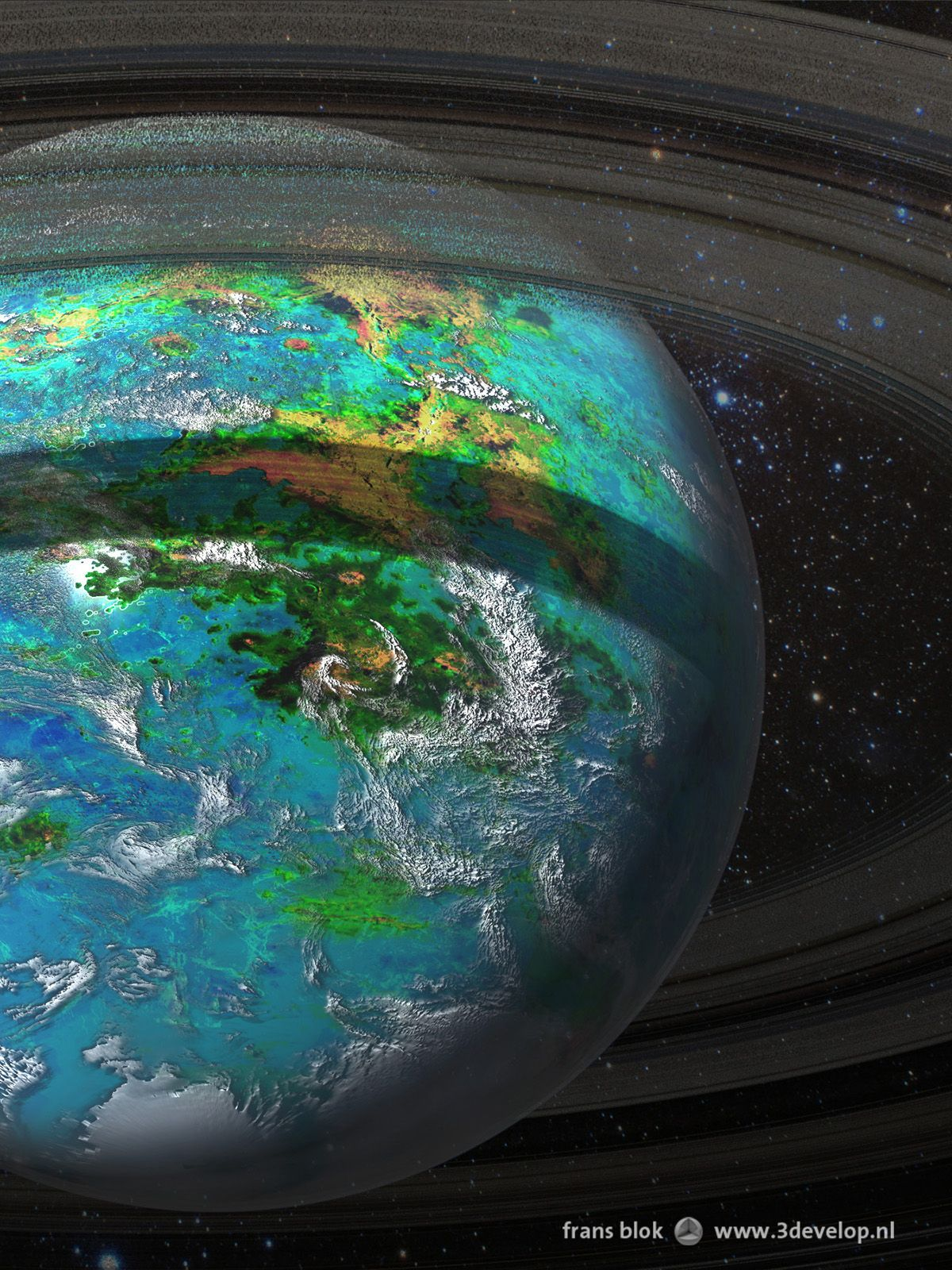 The Rings Of Venus In A Remote Future The Planet Is