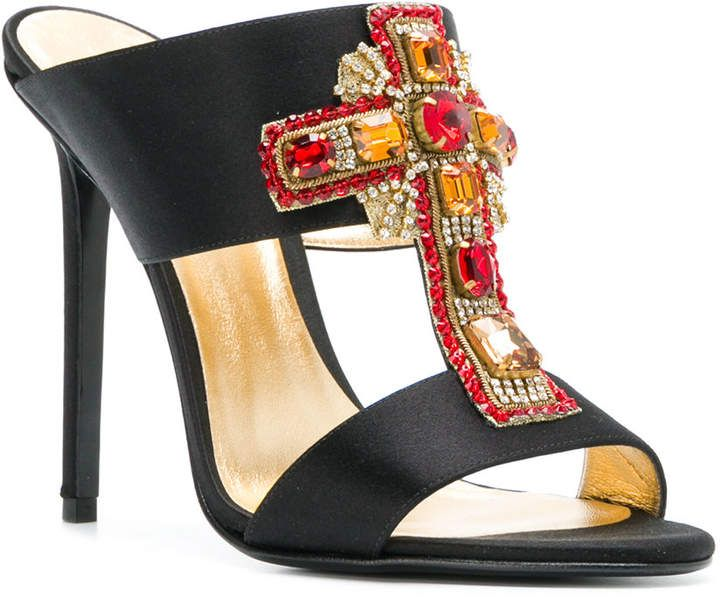f8751dc9ad247f Versace embellished cross mules  ad