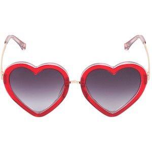 MARKUS LUPFER brilharam Acetato Óculos de sol do coração