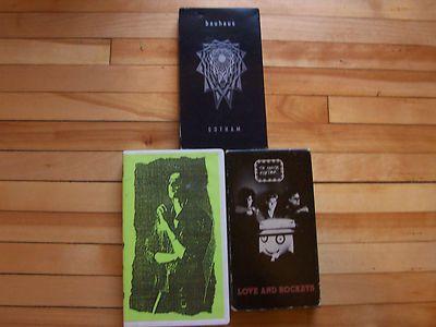 BAUHAUS DANIEL ASH LOVE AND ROCKETS Lot of (3) VHS Cassette Tapes David J Goth