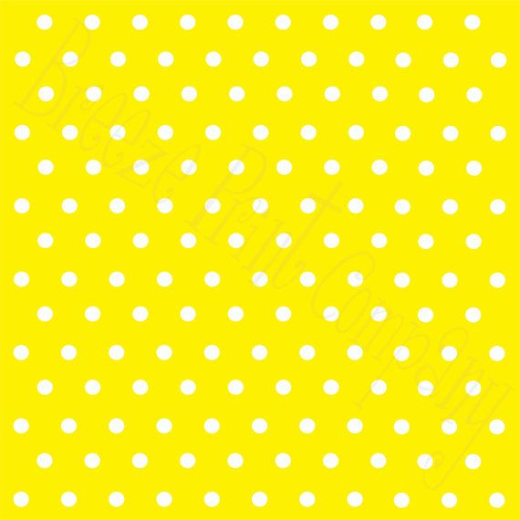 Yellow with white polka dots HEAT TRANSFER by BreezePrintCompany