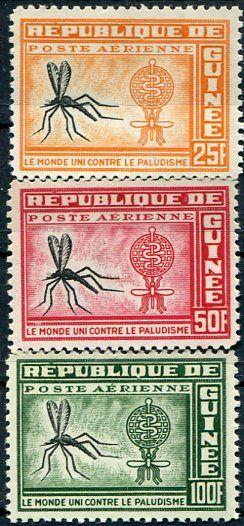 Francobolli . Lotta contro la malaria - Malaria on Stamps Guinea 1962