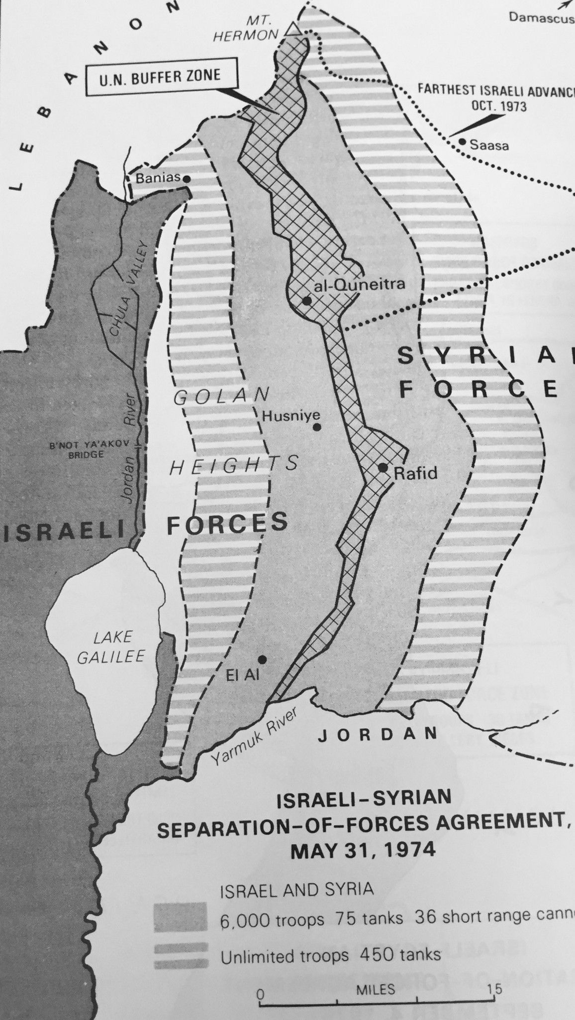 1974 May Syria And Israel Signed A Disengagement Agreement Syria