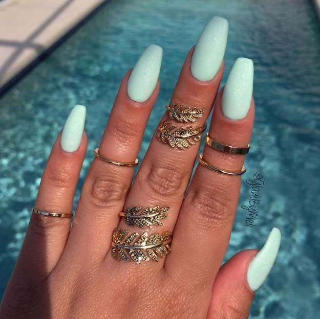 Nail Art Ideas For Coffin Nails Kool As A Cucmber Easy Step By Step Nailart