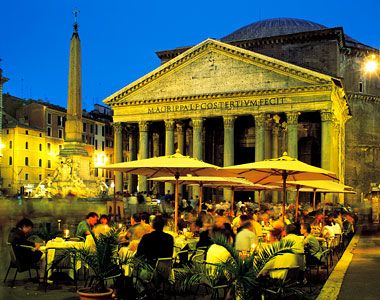 This is the Pantheon in Rome, Italy