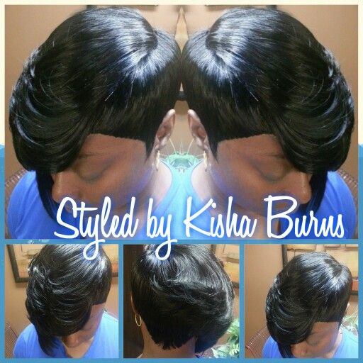Quickweave Feathered Style Sassy Hair Quick Weave Hairstyles Short Sassy Hair