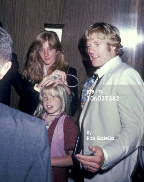 With Daughters Amy And Shauna Robert Redford Robert