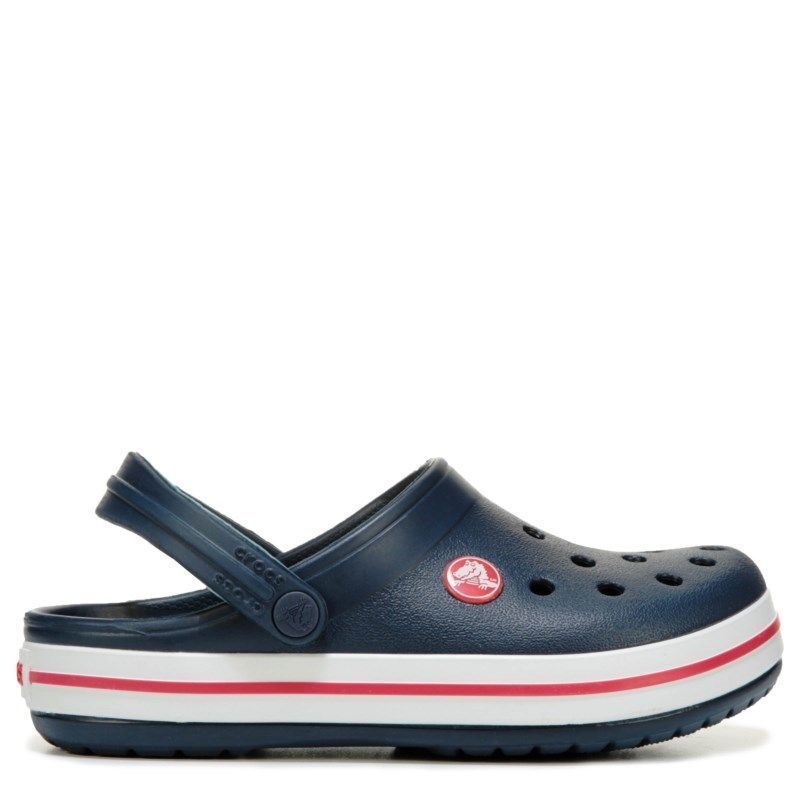 f2fda3f2a582 Crocs Kids  Crocband Clog Toddler  Preschool Shoes (Navy Red)   crocsshoesclogsoutfit