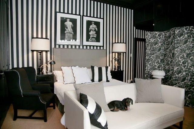 The Black And White Striped Wall The Reveal The Tomkat Studio Blog White Home Decor White Decor White Wall Decor