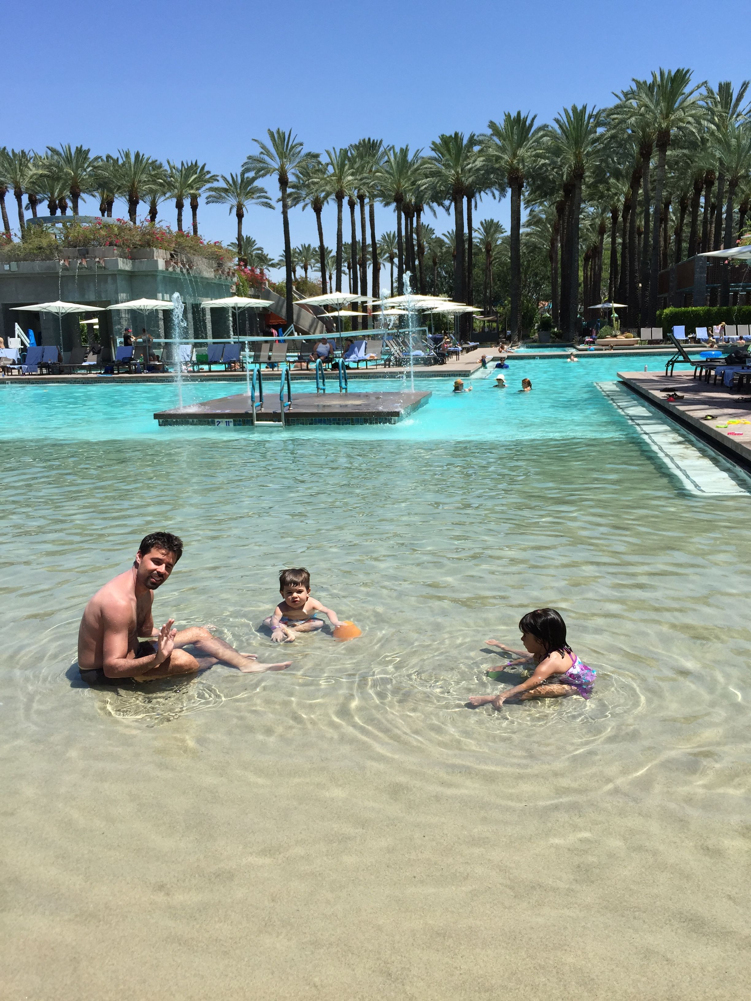 Erik and sons hanging at Hyatt Resort Scottsdale Az amazing place!