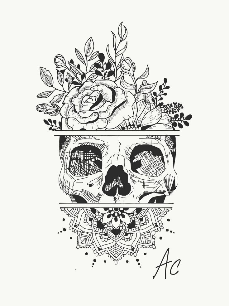 Photo of #ear #Females #ideas #Piercing Creating tattoo idea … skull … flowers … ma…