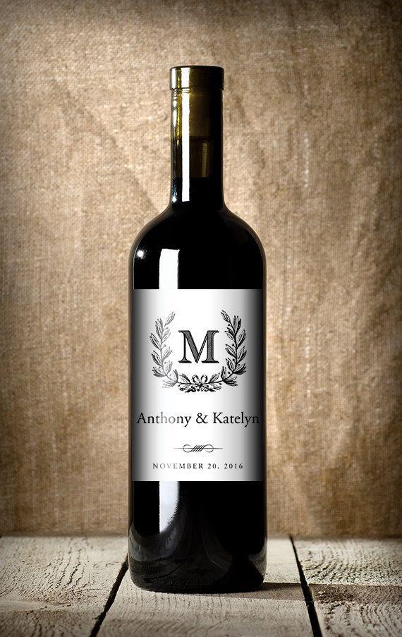 22 Monogrammed Wedding Items Wine Bottleswedding