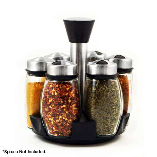 7 piece Stainless Steel and Glass Spice Carousel Spice Rack $5.99! (Reg $19.99) - http://couponingforfreebies.com/7-piece-stainless-steel-glass-spice-carousel-spice-rack-5-99-reg-19-99/