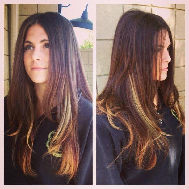 Burgundy Hair Color Peek A Boo Hair Highlights Hair Highlights