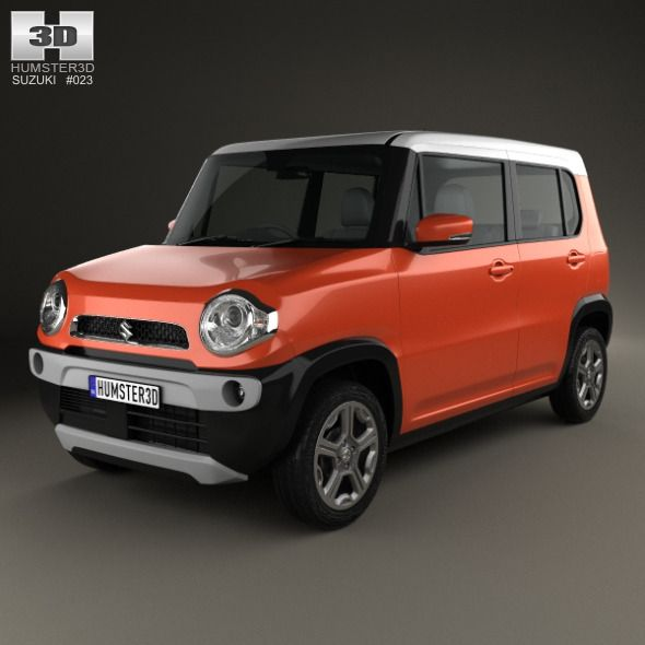 Suzuki Hustler 2013. Car 3D model. #3D #3DModel #3DDesign #5-doorCar #CompactCar #hatchback #hustler #JapaneseCar #KeiCar #suzuki #SuzukiHustler