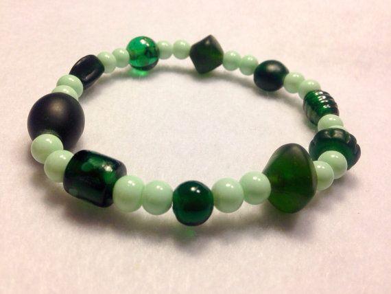 Emerald May Birthday Summer Beaded Stretch by JewelryNMoreByKaren