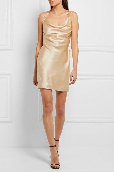 2b43e144c491 SAINT LAURENT - Silk-satin mini dress in 2019 | Clothes | Satin mini ...