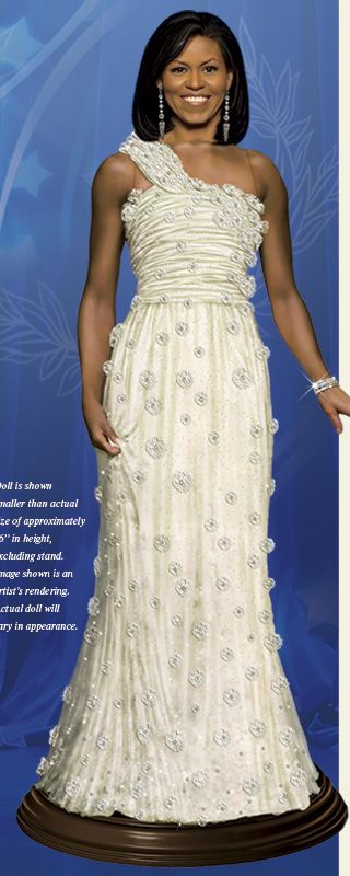 First Lady Obama Inaugural Doll - BEAUTIFUL!
