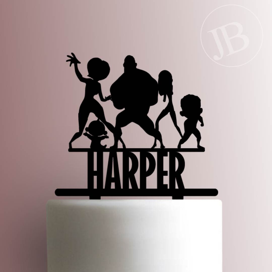 Custom the incredibles 225651 cake topper cake toppers
