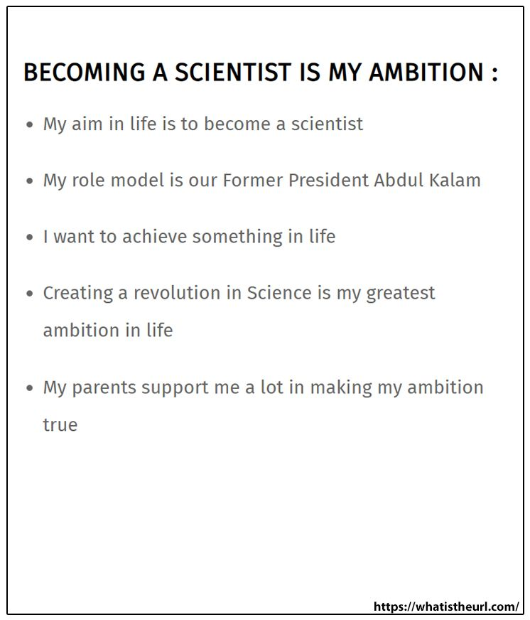 Becoming A Scientist Is My Ambition In 2021 Essay About Life Short Essay How To Become