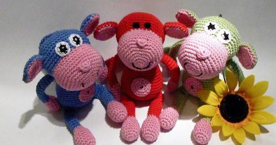 Small Monkey Amigurumi - Free English Pattern | crochet | Pinterest ...