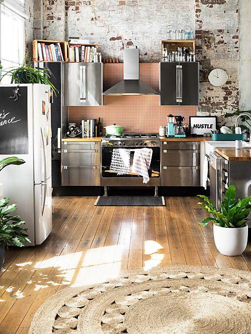Teppich in der Küche? Aber gerne doch 10 Stylische Statement - einbauküchen für kleine küchen