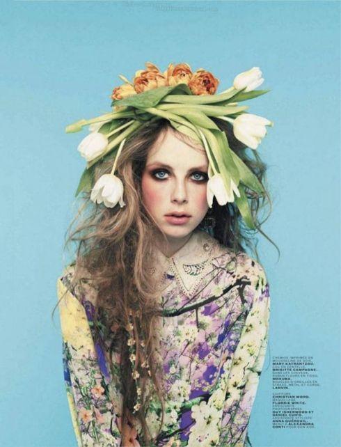 Fashion Editorial Flowers