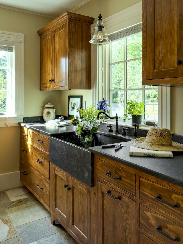 80 modern farmhouse kitchen cabinets makeover ideas cottage style kitchen rustic kitchen on farmhouse kitchen shelf decor id=53662