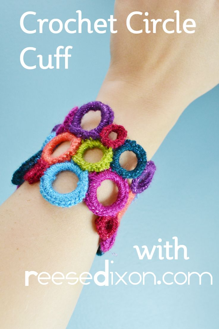 How-To: Crocheted Circle Cuff | Pinterest | Crochet circles, Crochet ...